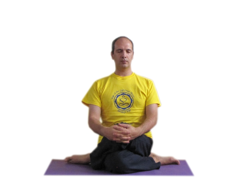 DHIANA VIRASANA - Postura Eroului care meditează - execuția pe partea stângă