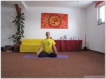 ARDHA PADMASANA - Postura Lotusului pe jumătate cu Jnana Mudra