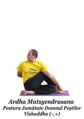 Ardha Matsyendrasana - Postura Jumătate Domnul Pestilor