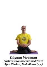 Dhyana Virasana - Postura Eroului care meditează