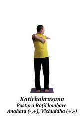 Katichakrasana - Postura Rotii Lombare